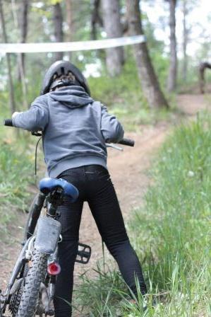 En vild cykeltrafik